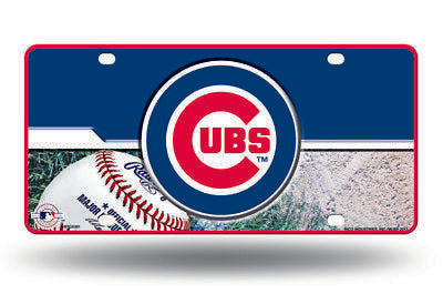 CHICAGO CUBS CAR TRUCK TAG LICENSE PLATE MLB BASEBALL METAL SIGN