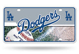 LOS ANGELES DODGERS CAR TRUCK TAG LICENSE PLATE MLB BASEBALL METAL SIGN LA