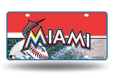 Miami Marlins Car Truck Tag License Plate Mlb Baseball Metal Sign