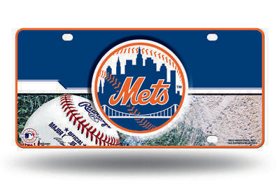 NEW YORK METS CAR TRUCK TAG LICENSE PLATE MLB BASEBALL METAL SIGN NY
