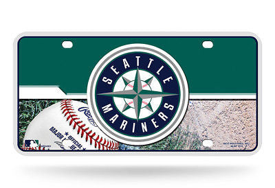 SEATTLE MARINERS CAR TRUCK TAG LICENSE PLATE MLB BASEBALL METAL SIGN