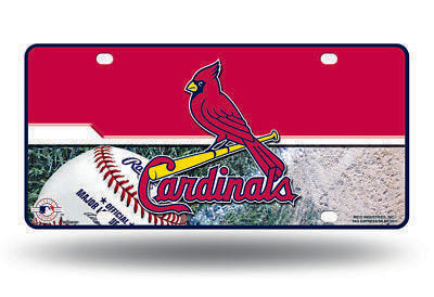ST LOUIS CARDINALS CAR TRUCK TAG LICENSE PLATE MLB BASEBALL METAL SIGN
