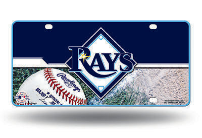 TAMPA BAY RAYS CAR TRUCK TAG LICENSE PLATE MLB BASEBALL METAL SIGN