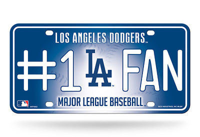 Los Angeles Dodgers #1 Fan Car Tag MLB
