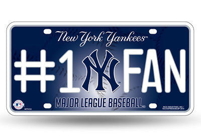 New York Yankees #1 Fan Car Tag Licence Plate MLB