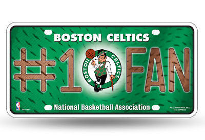 BOSTON CELTICS #1 FAN CAR TRUCK TAG LICENSE PLATE NBA BASKETBALL METAL SIGN