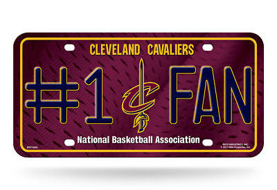 CLEVELAND CAVALIERS #1 FAN CAR TRUCK LICENSE PLATE NBA BASKETBALL METAL SIGN