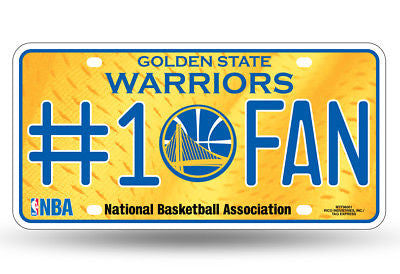 GOLDEN STATE WARRIORS #1 FAN CAR TRUCK LICENSE PLATE NBA BASKETBALL METAL SIGN