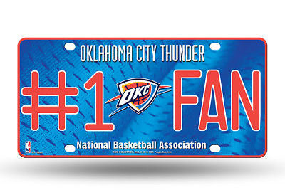 Oklahoma City Thunder #1 Fan Car Truck License Plate Nba Basketball Metal Sign