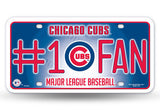 CHICAGO CUBS #1 FAN CAR TRUCK TAG LICENSE PLATE MLB BASEBALL METAL SIGN