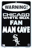 CHICAGO WHITE SOX SIGN WARNING FAN MAN CAVE METAL PARKING SIGN 8