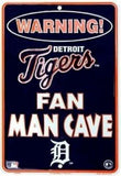 DETROIT TIGERS SIGN WARNING FAN MAN CAVE METAL PARKING SIGN 8