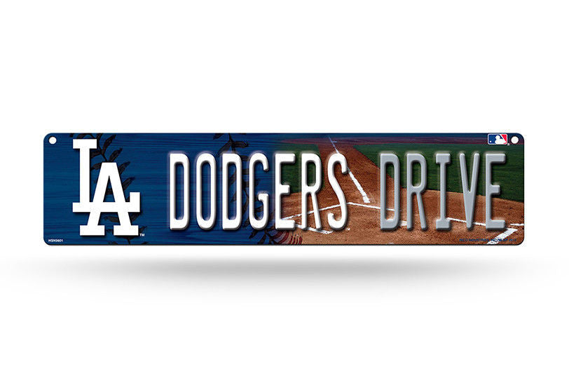 "LOS ANGELES DODGERS PLASTIC STREET SIGN 4""X16"" ""DODGERS DRIVE"" MAN CAVE BASEBALL"