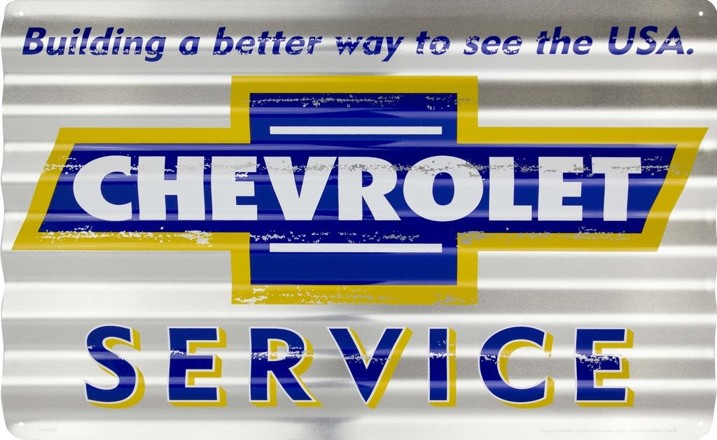 "Chevrolet Service Corrugated Sign 18 X 12"" Sign"