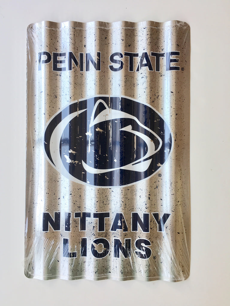 PENN STATE NITTANY LIONS CORRUGATED METAL SIGN 12 X 18""