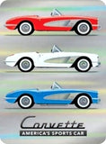 CORVETTE PRISMATIC EMBOSSED METAL SIGN