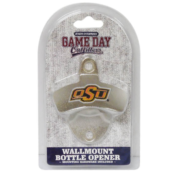 OKLAHOMA STATE COWBOYS WALL MOUNT BOTTLE OPENER
