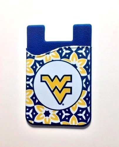 WEST VIRGINIA MOUNTAINEERS CELL PHONE CARD HOLDER WALLET FLORAL