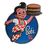 BOB'S BIG BOY SIGN EMBOSSED METAL BURGER VINTAGE LOOK KITCHEN MAN CAVE SHONEY'S