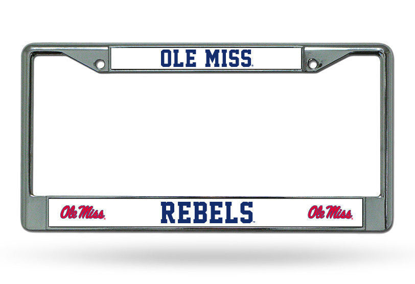 Ole Miss Rebels Car Tag Metal Frame