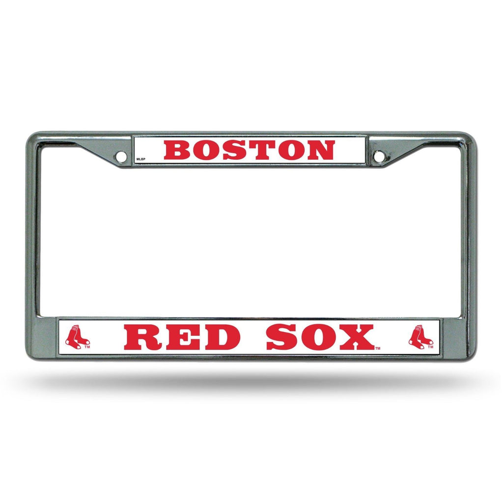 BOSTON RED SOX LICENSE PLATE FRAME METAL