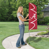 ALABAMA CRIMSON TIDE 6 FOOT TALL FLAG STEEL POLE BANNER SWOOPER DOUBLE SIDED