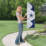 DALLAS COWBOYS 6 FOOT TALL TEAM FLAG STEEL POLE SIGN BANNER SWOOPER DOUBLE SIDED