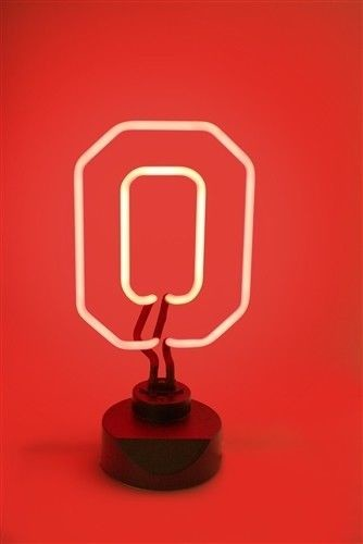 OHIO STATE BUCKEYES NEON SIGN LIGHT TABLE TOP LAMP UNIVERSITY MAN CAVE OFFICE