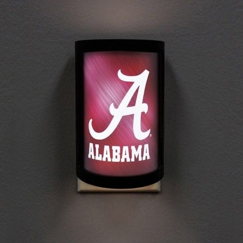 ALABAMA CRIMSON TIDE PLUG-IN LED NIGHT LIGHT WITH LIGHT SENSOR NCAA 3 SETTINGS