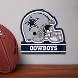 DALLAS COWBOYS METAL HELMET SIGN 8X8 NFL DIE CUT STEEL HEAVY DUTY MAN CAVE SPORT