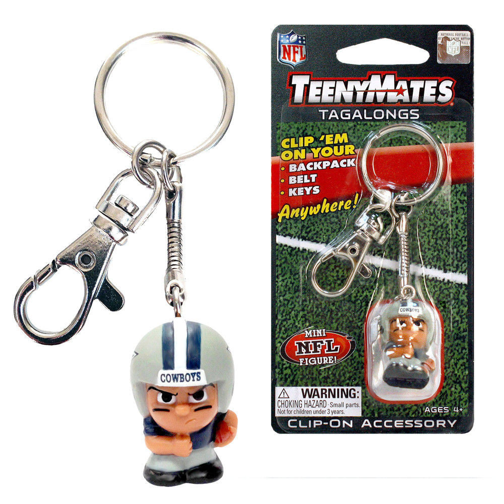 DALLAS COWBOYS TEENYMATES TAGALONGS NFL CLIP ON ACCESSORY BELT BACKPACK KEYS