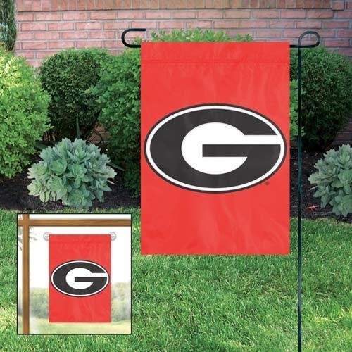 GEORGIA BULLDOGS MINI FLAG APPLIQUE EMBROIDERED W FREE WINDOW HANGER GARDEN