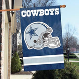 DALLAS COWBOYS APPLIQUE EMBROIDERED 2 SIDED OVERSIZED HOUSE FLAG INDOOR OUTDOOR
