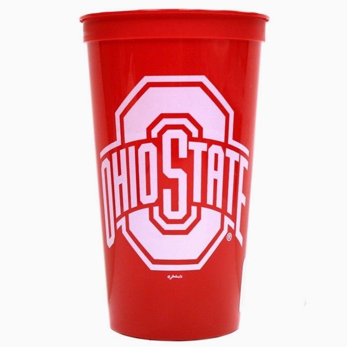 OHIO STATE BUCKEYES STADIUM TYPE CUPS 32OZ SET OF 4  TAILGATING PARTY NCAA