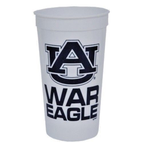 AUBURN TIGERS STADIUM TYPE CUPS 32OZ SET OF 4 WAR EAGLE TAILGATING NCAA PARTY
