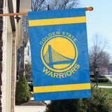 Golden State Warriors Applique Banner House Flag Outdoor 44