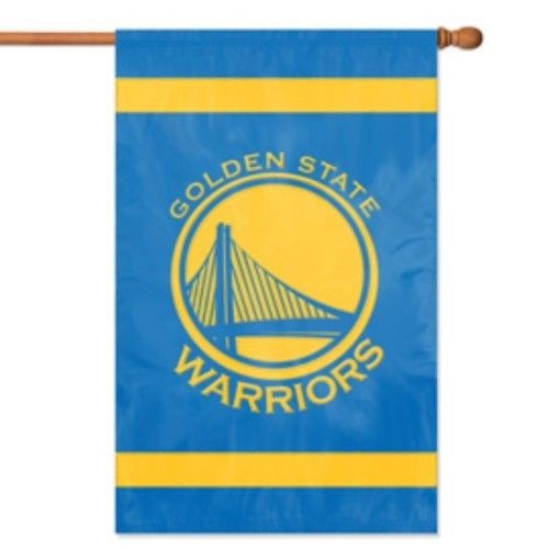"Golden State Warriors Applique Banner House Flag Outdoor 44"" X 28"" Oversized"