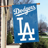 LOS ANGELES DODGERS APPLIQUE BANNER HOUSE FLAG OUTDOOR 44