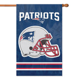 NEW ENGLAND PATRIOTS APPLIQUE EMBROIDERED 2SIDED HOUSE FLAG INDOOR OUTDOOR NYLON