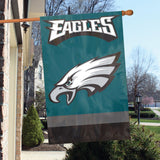 Philadelphia Eagles Applique Embroidered Flag 2 Sided NFL