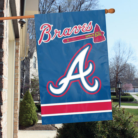 "ATLANTA BRAVES 12 x 12"" EMBOSSED METAL FAN XING CROSSING SIGN"