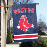 BOSTON RED SOX APPLIQUE BANNER HOUSE FLAG OUTDOOR 44
