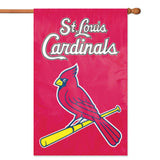 ST. LOUIS CARDINALS APPLIQUE BANNER HOUSE FLAG OUTDOOR 44