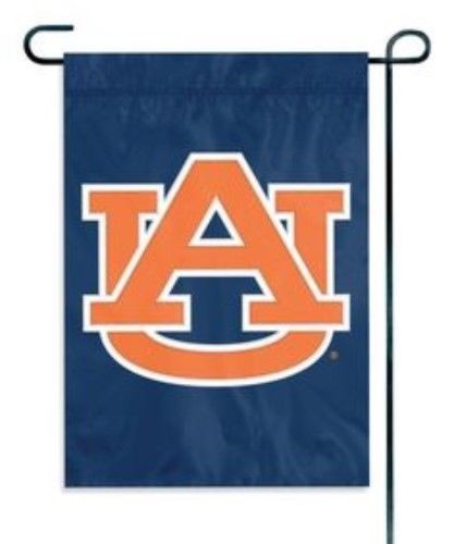 AUBURN TIGERS GARDEN FLAG APPLIQUE EMBROIDERED PREMIUM QUALITY FULL SIZE NYLON