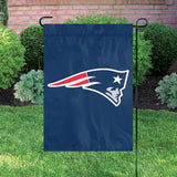 NEW ENGLAND PATRIOTS GARDEN FLAG APPLIQUE EMBROIDERED PREMIUM QUALITY FULL SIZE