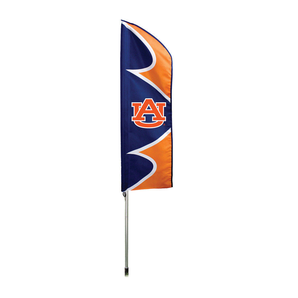 AUBURN TIGERS TIDE 6 FOOT TALL FLAG STEEL POLE BANNER SWOOPER DOUBLE SIDED NCAA