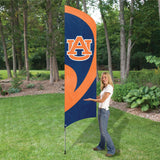 AUBURN TIGERS 8.5 FOOT TALL TEAM FLAG 11.5' POLE SIGN BANNER UNIVERSITY APPLIQUE