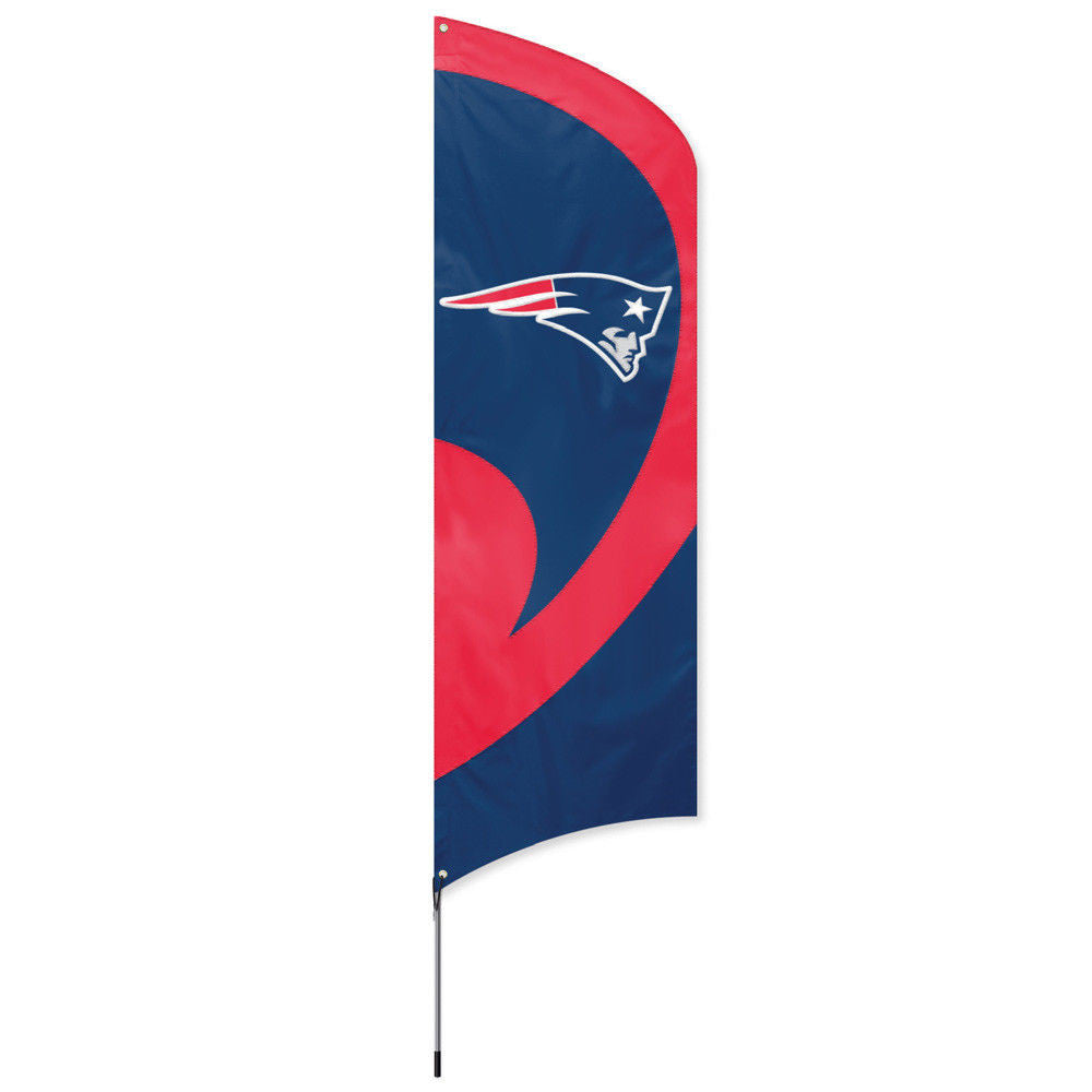 NEW ENGLAND PATRIOTS 8.5 FOOT TALL TEAM FLAG 11.5' POLE SIGN BANNER NFL