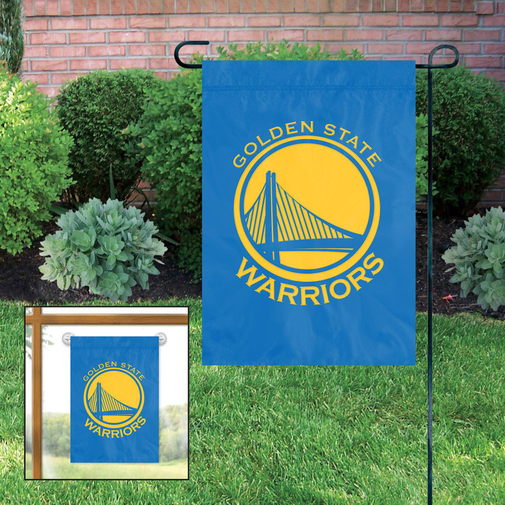 Golden State Warriors Garden Flag Applique Embroidered Window Hanger Premium Nba