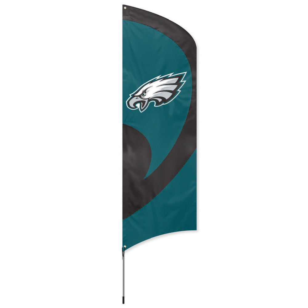 PHILADELPHIA EAGLES 8.5 FOOT TALL TEAM FLAG 11.5' POLE SIGN BANNER SWOOPER NFL